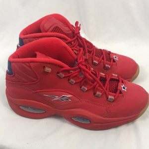 Reebok Question Mid Packer Shoes Red Mens 10.5